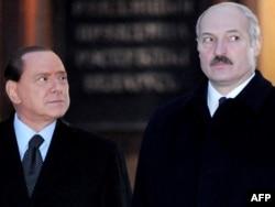 Сыльвіё Бэрлюсконі і Аляксандар Лукашэнка, Менск, 2009 год