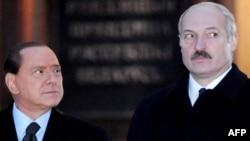 Аляксандар Лукашэнка і Сыльвіё Бэрлюсконі ў Менску, 30 лістапада, 2009