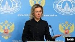 Представитель российского МИДа Мария Захарова.