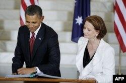 Президент США Барак Обама та австралійський прем'єр Джулія Ґіллард