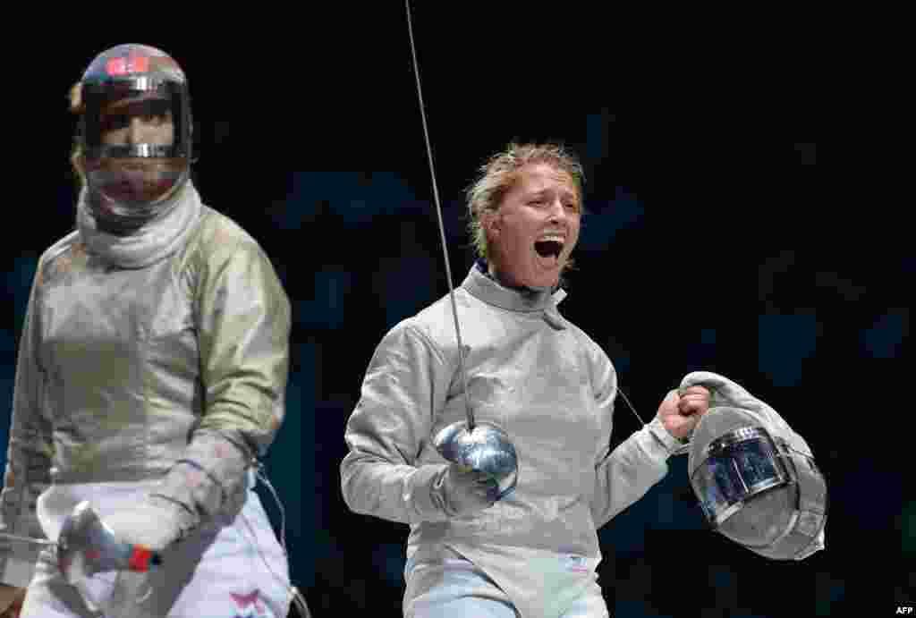 Шаблістока Ольга Харлан виборола четверту бронзову медаль для України, перемігши американку Маріель Заґуніс
