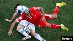 Фрагмент матча Аргентина - Швейцария