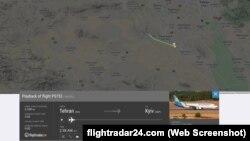 Արտապատկերում Flightradar24.com կայքից
