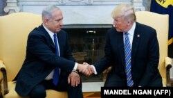 Премьер-министр Израиля Биньямин Нетаньяху (слева) и президент США Дональд Трамп в Вашингтоне. 5 марта 2018 года.