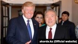 Дональд Трамп и Нурсултан Назарбаев.