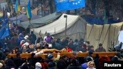 В Киеве вспоминают погибших на Майдане (25 февраля 2014 года)