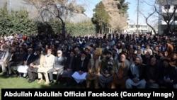 کابل کې ډاکتر عبدالله عبدالله په ملاتړ غونډه