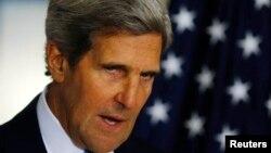 Госсекретарь США Джон Керри выступает с речью о ситуации в Сирии. Вашингтон, 30 августа 2013 года.