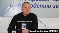 "Сергей Соляник, ""Crude Accountability"" компаниясының консультанты. Алматы, 22 желтоқсан 2015 жыл."