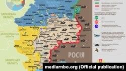 Ситуація в зоні бойових дій на Донбасі, 21 липня 2018 року (дані Міністерства оборони України)