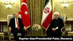 Racep Tayyip Erdogan və Hassan Rohani