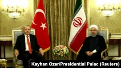 Recep Tayyip Erdogan i Hasan Rohani u Tehranu, 4. oktobra 2017