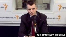 Михаил Прохоров в московской студии Радио Свобода, 19 января 2012