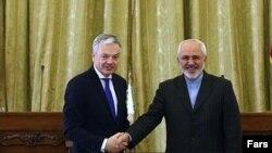 وزرای خارجه ایران و بلژیک در تهران- عکس از خبرگزاری فارس