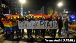 Sa prošlogodišnje protestne šetnje LGBT aktivista u Beogradu