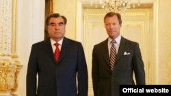 Встреча президента Таджикистана Эмомали Рахмона и Великого Герцога Люксембурга Генри, Люксембург, 9 июня 2011