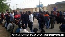 کارگران نیشکر هفت تپه خواستار آزادی بازداشت شدگان روز یکشنبه در شهر شوش هستند