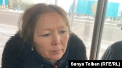 Дулат Ағаділдің әйелі Гүлнар Қасымханова. Нұр-Сұлтан, 14 қараша 2019 жыл.