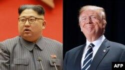 Հյուսիսային Կորեայի և ԱՄՆ-ի նախագահներ Կիմ Չեն Ունը և Դոնալդ Թրամփը:
