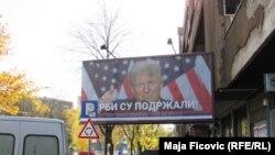 Panoja e Donald Trumpit ne Mitrovicën veriore