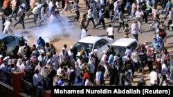 Протест в Судане. 25 декабря 2018 года.