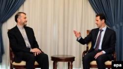 عکس تزئینی و مربوط به دیدار آقای امیرعبداللهیان با بشار اسد در تابستان گذشته است.