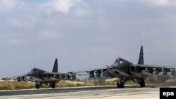 Российские Су-25 на авиабазе в Сирии