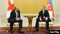 Վրաստանի նախագահ Գիորգի Մարգվելաշվիլի և Ադրբեջանի նախագահ Իլհամ Ալիև, արխիվ