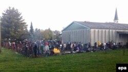 Փախստականների ժամանակավոր ճամբար Սլովենիայում, հոկտեմբեր, 2015թ.