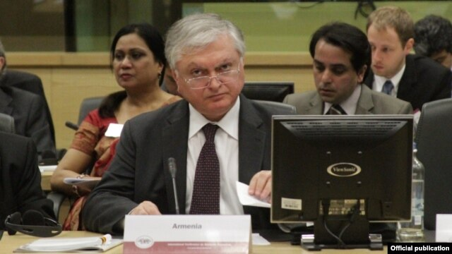 Armenian Foreign Minister Edward Nalbandian (file photo)
