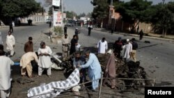 The scene of a suicide bomb blast in Quetta last month claimed by Jamaat ul Ahrar