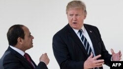 عبدالفتاح السیسی در آوریل سال جاری با سفر به واشینگتن با دونالد ترامپ دیدار کرد.