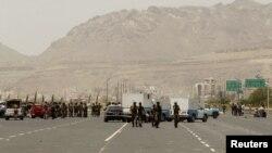 од вчерашниот напад во Сана