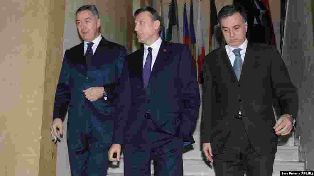 Milo Đukanović, Ranko Krivokapić i Filip Vujanović