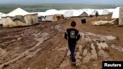 Лагерь сирийских беженцев в Атимехе на турецко-сирийской границе, 10 декабря 2012 года.