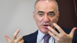 Russian opposition figure and chess champion Garry Kasparov