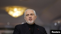 Iranian Foreign Minister Mohammad Javad Zarif in Baghdad on May 26.