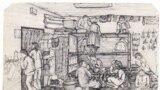 سلول دربسته تنبیهی / نقاشیهای سودابه اردوان از کتاب او به نام «یادنگارههای زندان». خانم اردوان در دهه ۶۰ خورشیدی به مدت هشت سال در زندان بود.