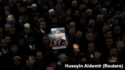 Символические похороны оппозиционного саудовского журналиста Джамаля Хашогги. Стамбул, 16 ноября 2018 года.