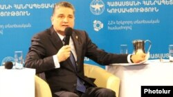Armenia - Prime Minister Tigran Sarkisian speaks at a conference in Yerevan, 29Mar2014.
