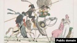 Русские в Париже. Историческая карикатура