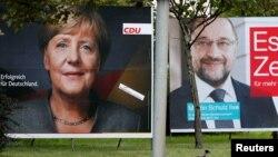 Angela Merkel və Martin Schulz