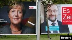 Згідно з опитуваннями, проведеними перед виборами, партія Анґели Меркель «Християнсько-демократичний союз» лідирує із 34-37% голосів виборців проти 21-22% – у соціал-демократів