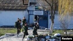Украинские морские пехотинцы в Феодосии