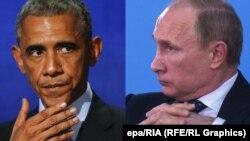Барак Обама і Володимир Путін. Комбіноване фото