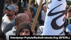 Мітинг руху Хізб-ут-Тахрір проти «образ Ісламу» у Сімферополі