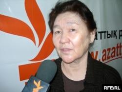 Тохтар Рахметова, вдова Аркена Уака. Алматы, 13 декабря 2008 года.