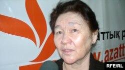 Әркен Уақтың жұбайы Тоқтар Рахметова. Алматы, желтоқсан, 2008 жыл.