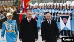 Путин (аз рост) ва Эрдуғон. 1-уми декабр. Анкара