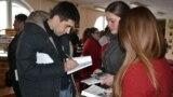 Iulian Ciocan la întîlnirea cu studenții de la Bălți
